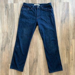 "34x31.5"" Joe's Jeans The Classic Dark Wash Jeans"
